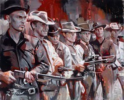 Magnificent Seven by Zinsky -  sized 32x26 inches. Available from Whitewall Galleries